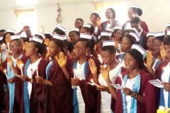 Cross Section of Students at Capping Ceremony
